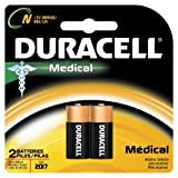 Duracell MN9100B2PK04 Alkaline-Manganese Dioxide Medical Battery, N Size, 1.5V (Case of 6 Cards, 2 Unit per Card)