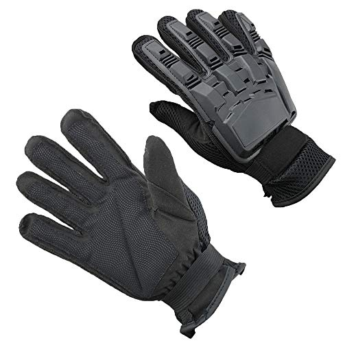 Full Finger Tactical Gloves Cycling Gloves Mountain Bike Gloves Road Racing Bicycle Gloves (Color : Black, Size : L)