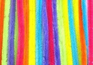 CI - Hilos de felpilla (60 unidades), varios colores fluorescentes