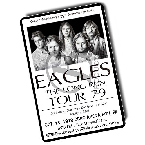 Brotherhood The Eagles The Long Run Tour 79 Concert Poster Design 8x12 Metal Sign (Concert Poster Designs)