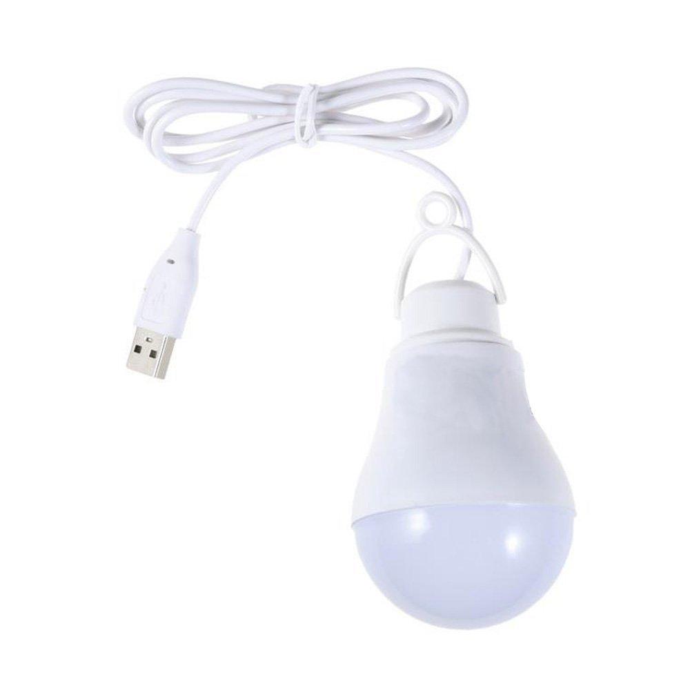 Coolead-5V 5W Camping Usb Light Bulb Home Emergency Led Bulb (White) White 10