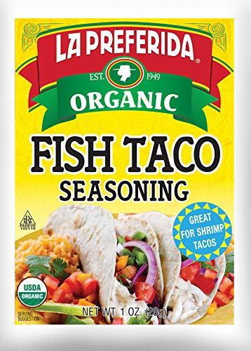 La Preferida Mexican Foods, Organic Fish Taco Seasoning, No MSG or Artificial Preservatives, 1 OZ (Pack of 3)