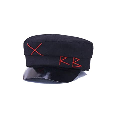 XPFF Sombrero Negro De Invierno Gorra Mujer Hombre Moda Boinas ...