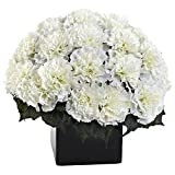 Nearly Natural 1372-CR Carnation Arrangement, Cream