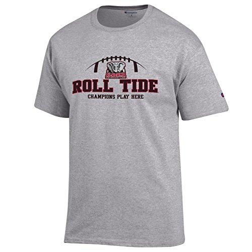 "Alabama Crimson Tide ""Roll Tide"" football NCAA T shirt made by Champion, Grey XL"