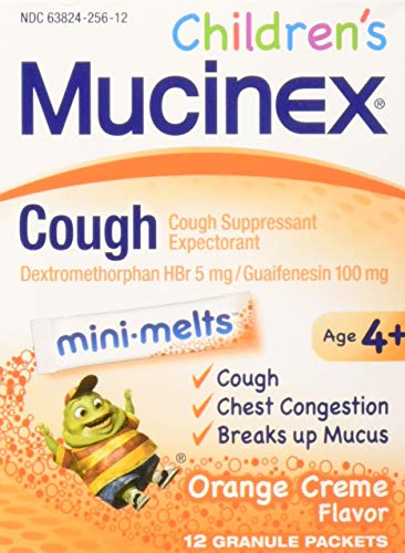 (Mucinex Children's Chest Congestion Expectorant and Cough Suppressant Mini-Melts, Orange Cream, 12 ct (Pack of 3))