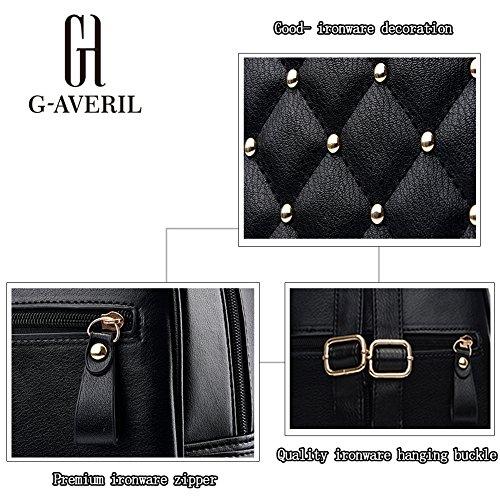 cuir dos Mode Noir Femmes à AVERIL pour G Cartable Sacs en Décontractée Mignonne XpxqRnt1Aw