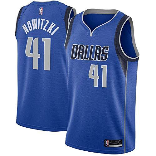 Majestic Athletic Men's Dallas Mavericks #41 Dirk Nowitzki Royal Swingman Jersey-Blue (M) ()