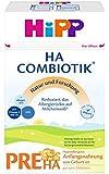 HiPP Pre HA ComBiotik, hypoallergene Anfangsnahrung von Geburt an, 4er Pack (4 x 500 g)