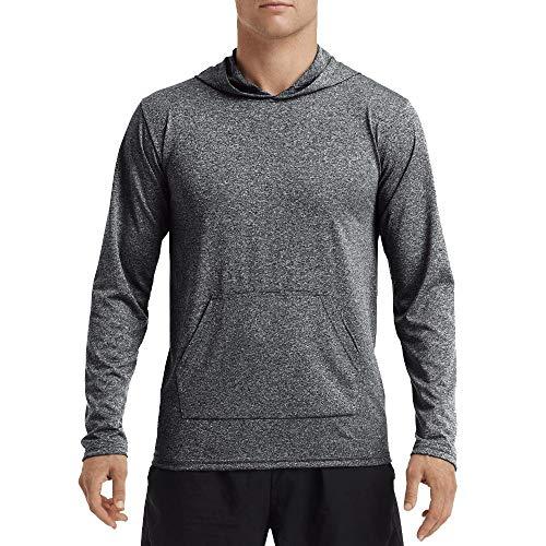 Gildan Men's Performance Adult Hooded T-Shirt, H Sport Black, -
