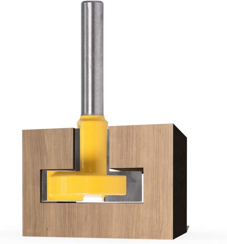 Zimmermannsmei/ßel Fasenfr/äswerkzeug T-Schlitzfr/äser f/ür Holzbearbeitung 6 mm Schaft T-Schlitzschneider