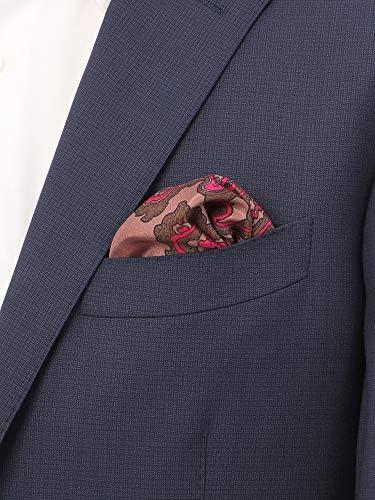 (ザ・スーツカンパニー) MADE IN ITALY/ペイズリープリント シルクポケットチーフ ブラウン系