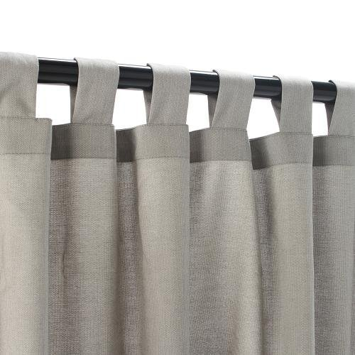 Sunbrella Outdoor Curtain with Tab Top - Dove, 50x120 by Sunbrella