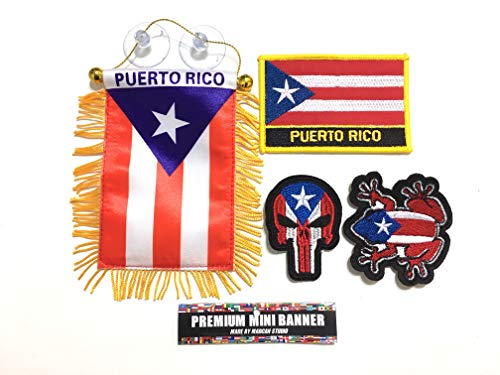 - Mad can studios NYC Puerto Rico Flag for car Accessories Puerto Rican Boricua You get All 4