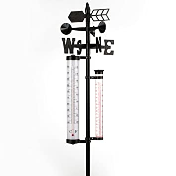 Deuba Wetterstation Garten Schrebergarten Analog 4 Funktionen