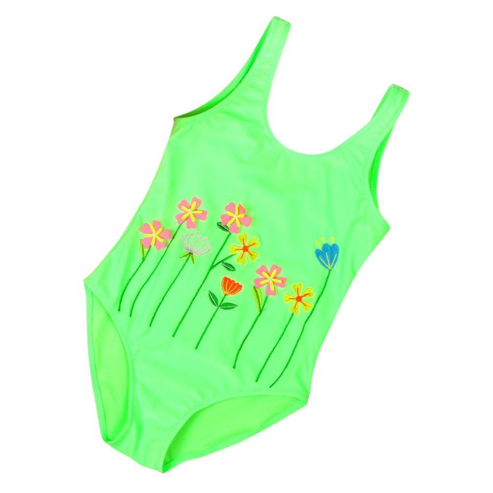 Baby Girls Swim Suits Size 2 3 4 5 6 Years Kids One Pieces Swimming Wear Floral