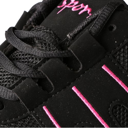 Free Fisher Zapatos de Danza Baile de Tango Jazz Hip Hop Zapatos Deportivos para Mujer negro rosado