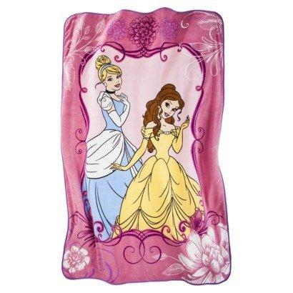 Disney Princess Cinderella and Belle Micro Raschel Twin Blanket; 62'' x 90'' by Disney