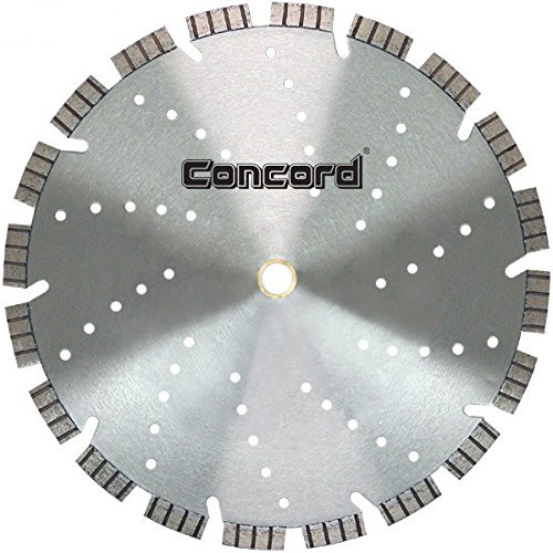 Industrial Diamond Saw Blade - Concord Blades LHB120C15HP 12 Inch Super Turbo Segmented Diamond Blade with 15 mm Jumbo Rim & Cooling Holes