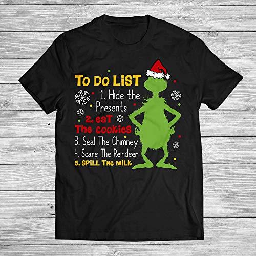 Santa Grinch To Do List Christmas Santa Naughty Or Nice Xmas Gift Customized Handmade T-Shirt Hoodie/Long Sleeve/Tank Top/Sweatshirt -