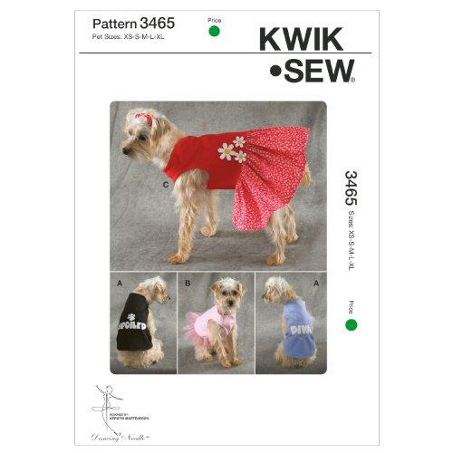 Pullover Dress Sewing Pattern (Kwik Sew K3465 Shirts and Dress Sewing Pattern, Size Pet)