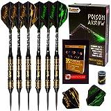 Ignat Games Steel Tip Darts - Professional Darts Set with Aluminum Shafts Flights + Dart Sharpener + Innovative Case
