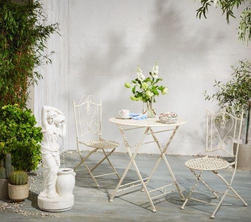 Kasandria® Gartenmöbel-Set Lana Weiß