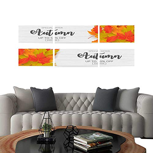 Frameless Paintings 3 Pieces Painting CollectionAutumn sale banner set with leaves Can be used for shopping sale promo poster banner flyer invitation website or greeting card 2. Hotel Office Decor
