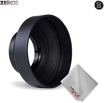 NA Folding 3 Stages 77mm Soft Rubber Lens Black Shadow Hood