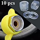 10Pcs Transparent 1/2 inch Rubber Shower Hose Washers Rings for Tube Pipe Bath Head