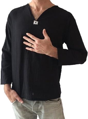 Love Quality - Camiseta de yoga para hombre, 100% algodón, color negro - negro - Small: Amazon.es: Ropa y accesorios