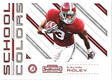 6ff647829 2018 Panini Contenders Draft Picks School Colors  10 Calvin Ridley Alabama  Crimson Tide Football Card