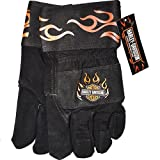 HARLEY DAVIDSON MERCHANDISE HDKV22L WOMEN S LEATHER PALM SAFETY GLOVE LARGE