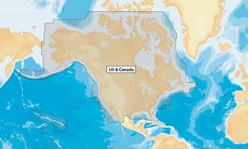 Navionics+ NAV+NI US and Canada Marine and Lake Charts on SD/MSD