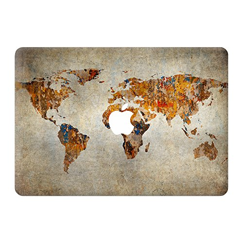 Coco and Toffee | Vintage World Map Highest-Grade Vinyl Skin Sticker compatible with MacBook Old Retina 13 (A1425/A1502)