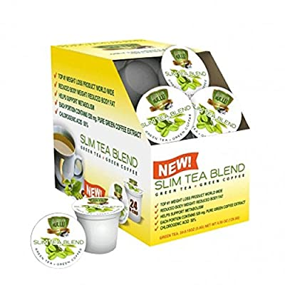 "Sollo Cup for Keurig K-Cup 2.0 ""Weight Loss"" Green Tea Herbal Supplement USDA Organic, 24cups"