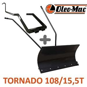 Hoja de nieve 118cm negra + adaptador para oleo-Mac Tornado 108/15,5T
