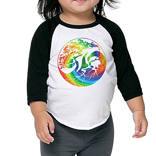 BBAYCUTO Kids Toddler Cotton Yin Yang Bonsai Tree Japanese 3/4 Sleeve Raglan Baseball T Shirts