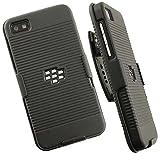Clip Belt Stand Holster Case Cover for Blackberry Z10-black