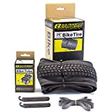 Eastern Bikes Premium Upgrade 26 x 1.95 Inch Tire and Tube Repair Kit with Inner Tubes & Tools. Fits Bicycles with 26 x 1.75 or 26 x 2.125 Rim or Wheels.