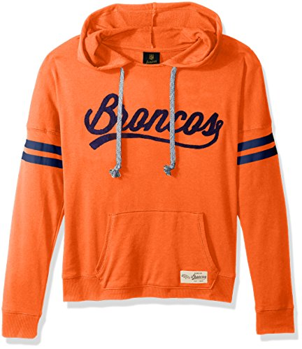 Outerstuff NFL Junior Girls Varsity Pullover Hood, Denver Broncos, Orange, - Sweatshirt Broncos Orange Denver