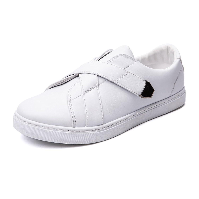 ZX Canvas Sneakers, Casual Lace up Loafers Flache Sportschuhe Low Top Strong Outsole Schwarz-Weiß-Farben Freizeit Turnschuhe für Männer (Farbe : White, Size : 40 EU)