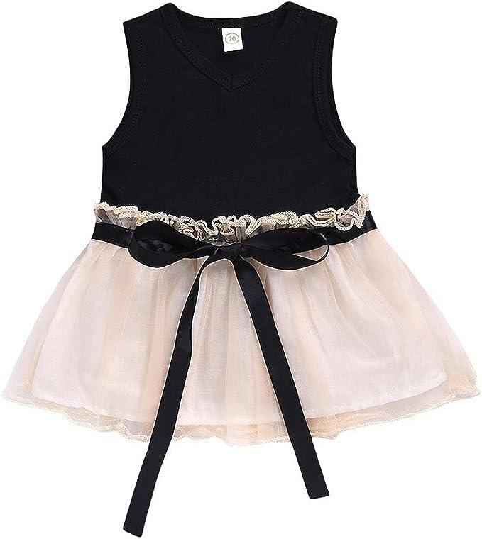 Vestiti Eleganti Bambina 5 Anni.Mbby Abito Bambina Tulle 0 5 Anni Vestito Bambini Con Fiocco