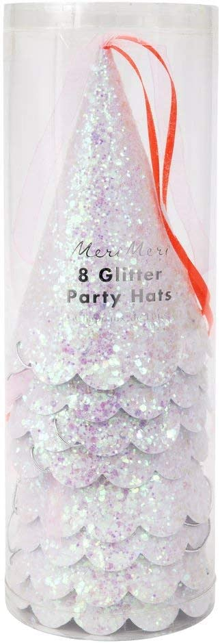 Meri Meri Magical Princess Party Hats Pink /& Neon Coral Tassels with Scallop Edge Pack of 8