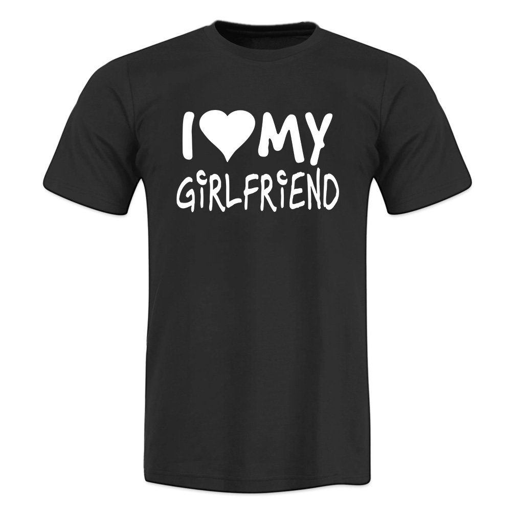 OKnown Adult I'd Flex But I Like This Shirt I Love My Girlfriend Mens T-Shirts,Large,Black1
