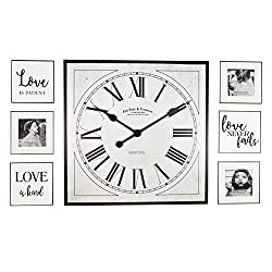 FirsTime 00262 Wall Clock, White