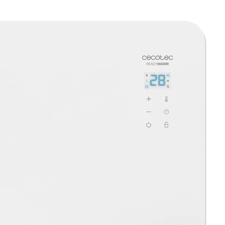 IP24 Termostato Regulable 1500 W Apto para Ba/ños Soporte de pie Manejo por WiFi Silencioso Cecotec Convector de Cristal Ready Warm 6700 Crystal Connection Temporizador