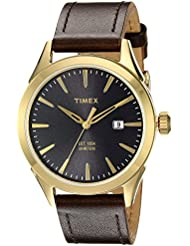 Timex Mens TW2P77500AB City Collection Analog Display Quartz Brown Watch