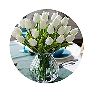 31PCS/LOT Mini Tulip Flower Real Touch Wedding Flower Bouquet Artificial Silk Flowers for Home Party Decoration 10