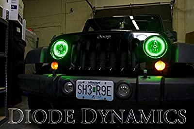 2007-2014 Jeep Wrangler Multicolor SMD Angel Eye Kit